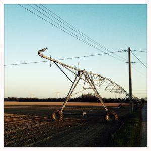 Bewässerungsanlage für Ackerfläche